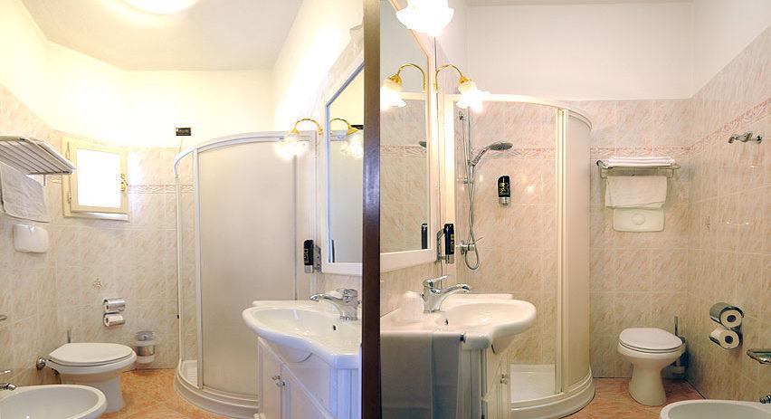 Camera con bagno. Val di Lima, Lucca.